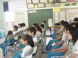 白浜小学校にてアルコールの害についての話し