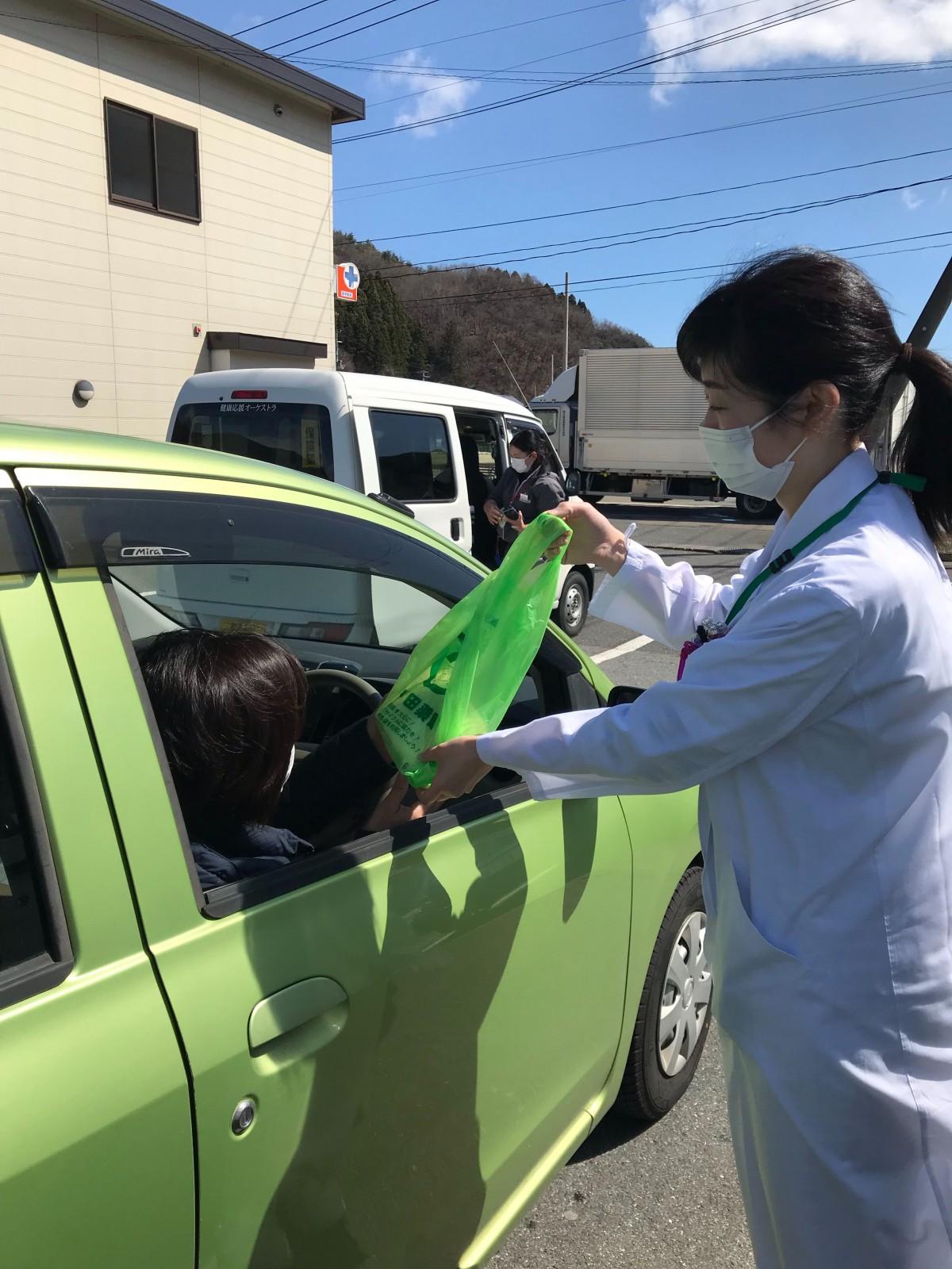 新型コロナウイルス対策(車で待機)
